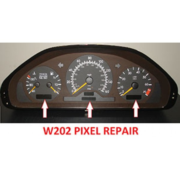 Mercedes cluster w202 pixel repair for Mercedes benz cluster repair
