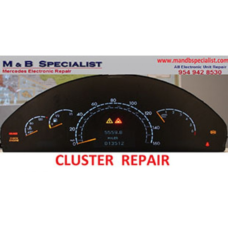 Mercedes custom cluster repair for Mercedes benz cluster repair
